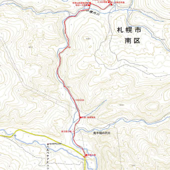 春香山南峰のGPSトラック