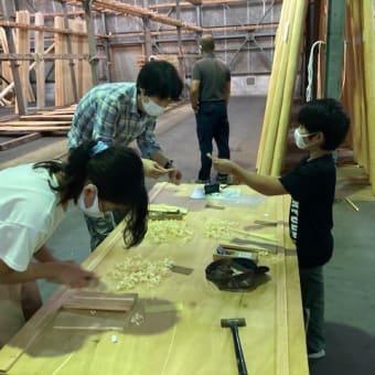 北山杉の木工体験
