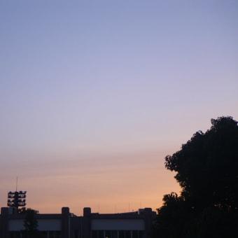今朝の空(Morning glow!)