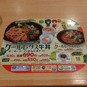 すき家(ケールレタス牛丼)