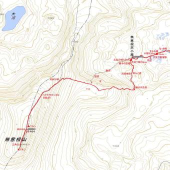 無意根山薄別コースのGPSトラック