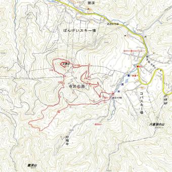 三菱山のGPSトラック