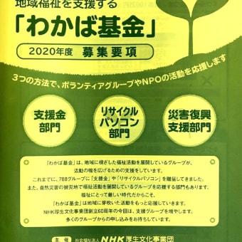 地域福祉を行う団体向け!3/31(火)「第32回 わかば基金」募集開始です!
