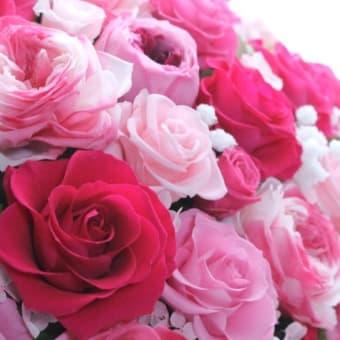 ♪ローズ・ララホイップ&数色のピンクローズ♪