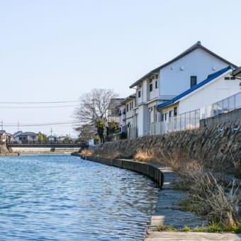 多度津町桜川の風景