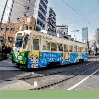 阪堺電車 ・ 松虫停留所付近