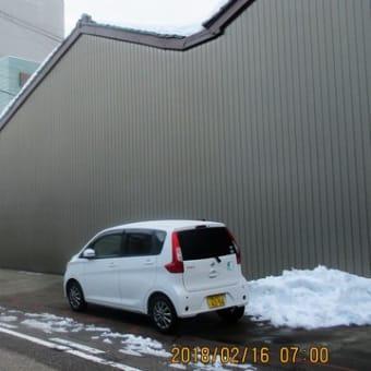 朝の積雪状況  180216(金)