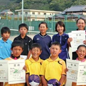 小学生ソフトテニス選手権大会県予選で日高勢活躍 〈2015年5月14日〉