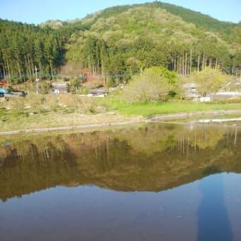 田んぼに水が入る。