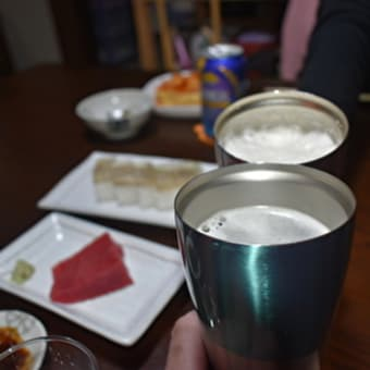 刺身、青ネギのぬたを酒の肴に【ぶらり旅ーおうち居酒屋ーいい酒いい肴】