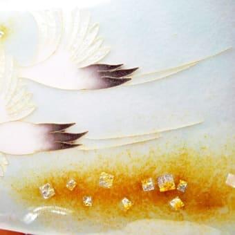 『七宝額』鶴 平面作品 | 額縁付き 伝統工芸品