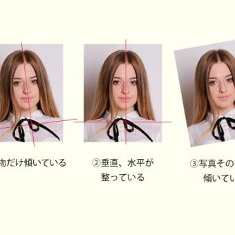 顔写真の傾き
