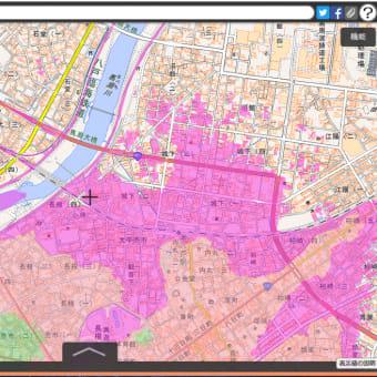 青森県の各市町村の津波避難用の色別の標高地図。ゼロ~5~10~20~30~40メートル、40メートル以上の6段階の標高の範囲の地図