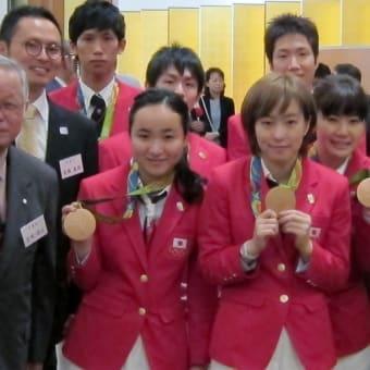 「第31回オリンピック競技大会(2016/リオデジャネイロ) 卓球日本代表メダル獲得祝勝会」参加!