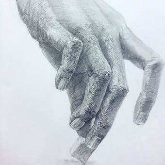 3本の指で角砂糖1個をつまみ上げ、その手を描写せよ。