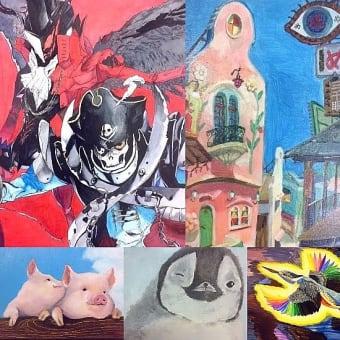 児童画クラス、一般絵画クラス 作品集