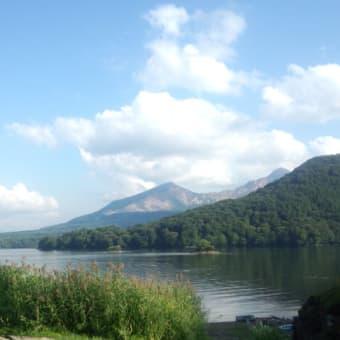 桧原湖の京ケ森近くより磐梯山を仰ぐ 5首