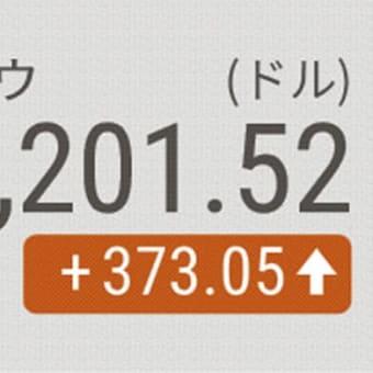5日 NYダウ続伸、373ドル高 ワクチン開発期待で !