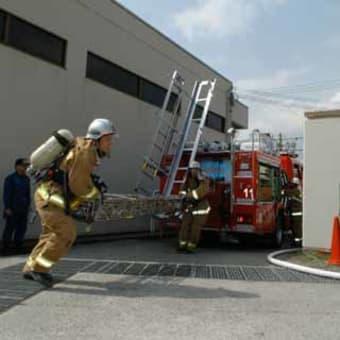 消火活動の安全、確実、迅速性を競い合う、警防技術練成会!