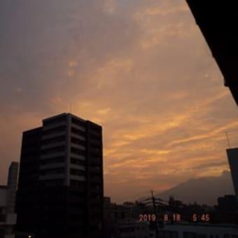 2019年08月18日(日) 曇り、一時、お湿り(降水量=0㎜)。。