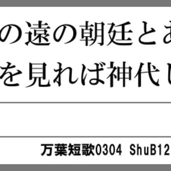 万葉短歌0304 大君の0265