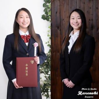 3/24 卒業入学同時撮影♫ 札幌写真館フォトスタジオハレノヒ