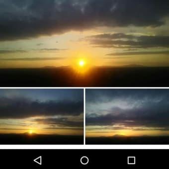 久々の越後平野の夕陽