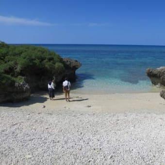 波照間島の静かなビーチです!サンゴの浜