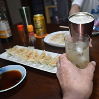 手作り餃子を酒の肴に【ぶらり旅ーおうち居酒屋ーいい酒いい肴】