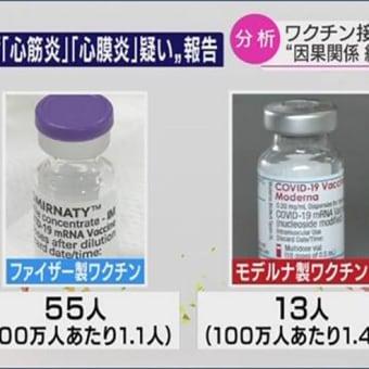 ファイザーワクチン死者1077人、モデルナ死者16人(8月20日現在)
