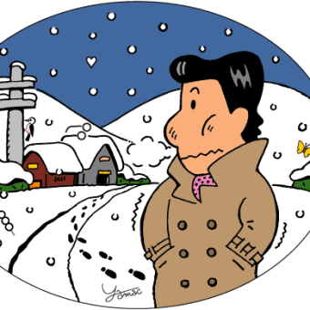 東京に雪が降る…