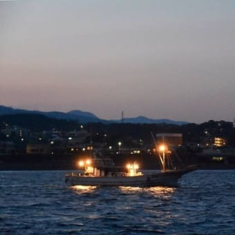 海上から小田原を望む漁船ナイトクルーズ!小田原早川漁村 漁師の浜焼 あぶりや