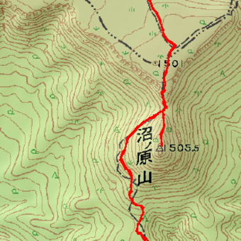 沼ノ原山と沼ノ原のGPSトラック