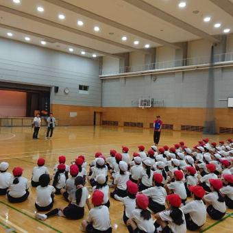 品川区立日野学園小学校でリングビー教室(2018/10/6)
