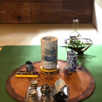 護国寺での煎茶の秋の茶会