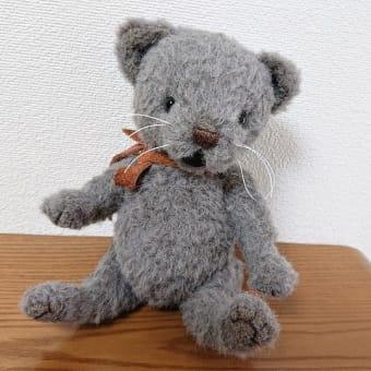 生徒さんの作品 グレーの猫さん