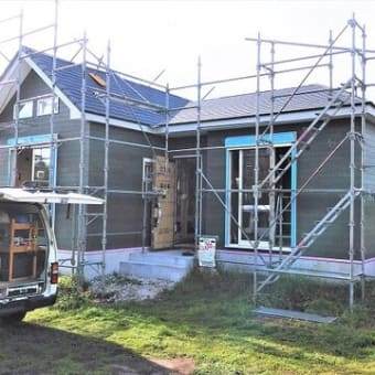 『 岬町長者 Wさんのやさしかわいいお家 』⌂Made in 外房の家。は屋根工事完了!大工工事他各工事も概ね順調進行中!!です。