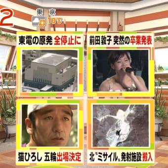 松尾由美子 やじうまテレビ! 12/03/26
