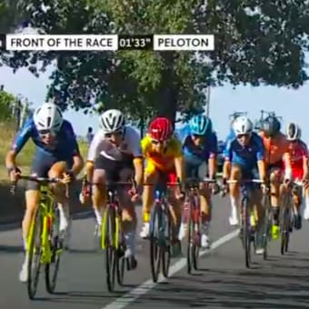 一日中cycle road race 観戦。