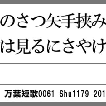 万葉短歌0061 ますらをの0046