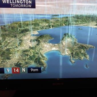 NZのTV天気予報はとてもリアル