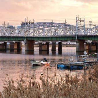 河川敷の風景