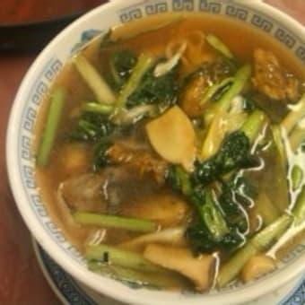 牡蠣のスープそば@小花 丸の内