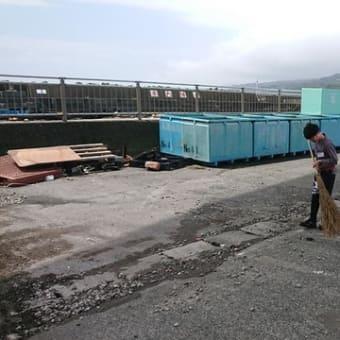 小田原早川の台風12号の爪痕 小田原早川漁村
