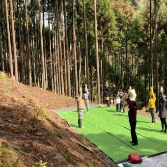 森ヨガ 開催しました。