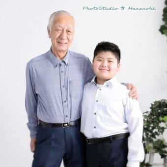 6/10 記念写真撮影・お爺ちゃんと一緒に♫ 札幌写真館ハレノヒ