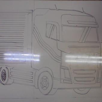 トラックの玄関ポーチ