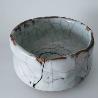 30年の風雨に晒された志野茶碗