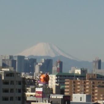 雪のない富士山