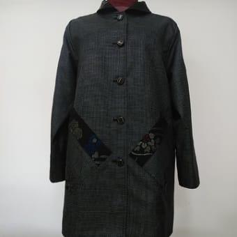 大島紬の着物からジャケット(オーダー)